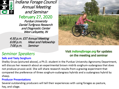 2020 Indiana Forage Council Annual Meeting and Seminar